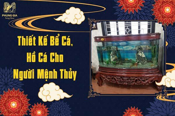 Thiết Kế Bể Cá Hồ Cá Cho Người Mệnh Thủy